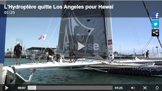Hydroptère Pacific crossing - Day 3: Watch the last video of Alain Thébault!